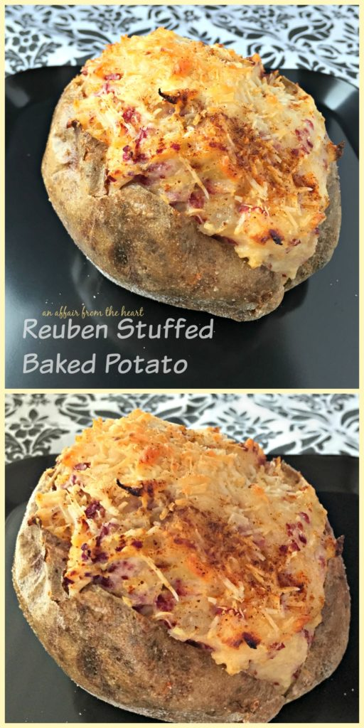 Reuben Stuffed Baked Potato