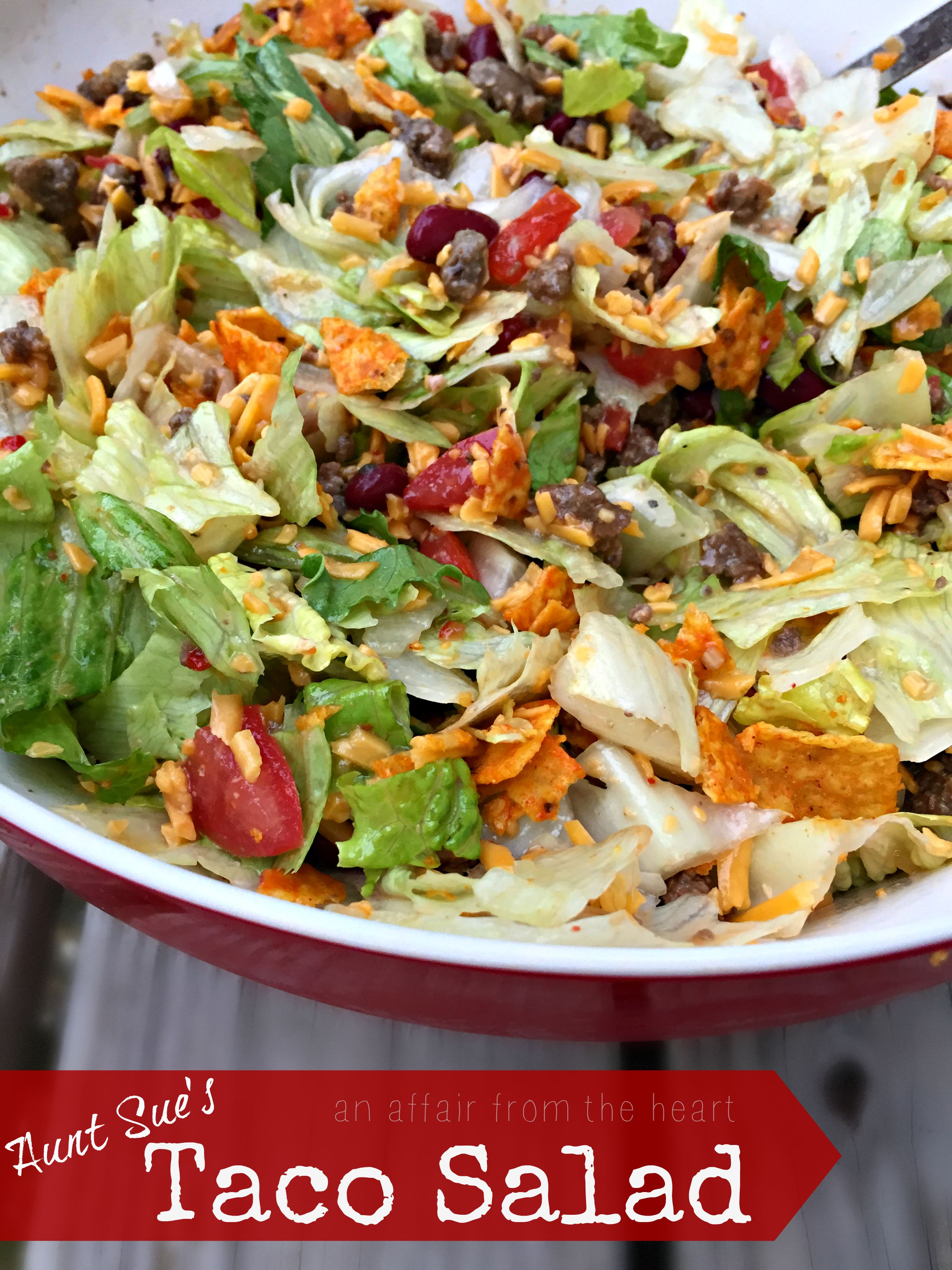 Aunt Sue's Taco Salad | An Affair from the Heart