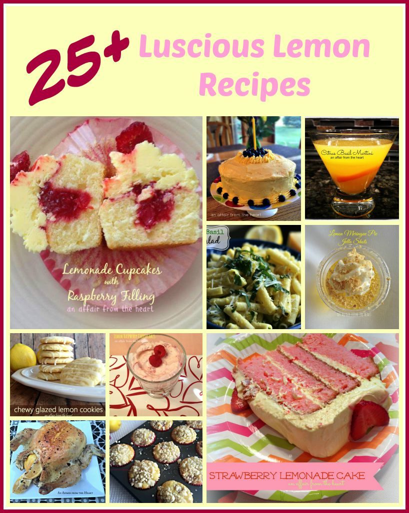 25 + Luscious Lemon Recipes