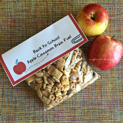 Back to School – Apple Cinnamon Brain Fuel {includes free printable}