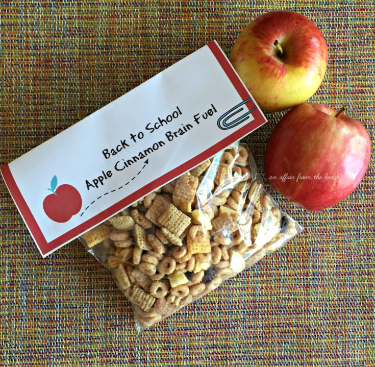 Back to School - Apple Cinnamon Brain Fuel {includes free printable}