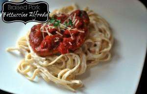 Braised Pork Fettuccine Alfredo