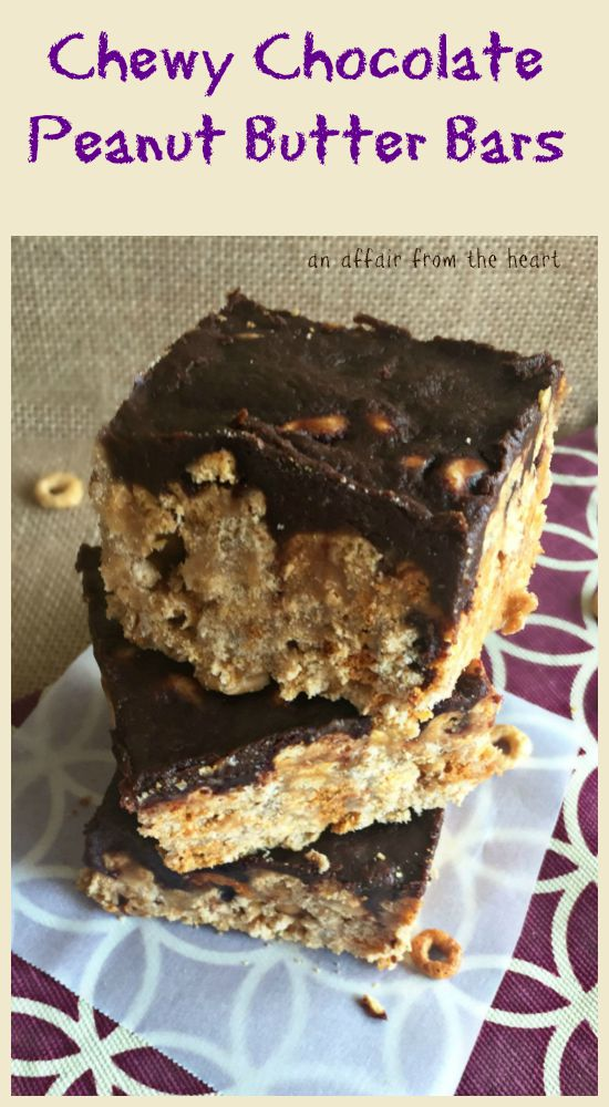 Chewy Chocolate Peanut Butter Bars