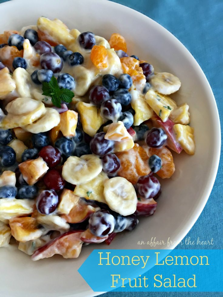 Honey Lemon Fruit Salad