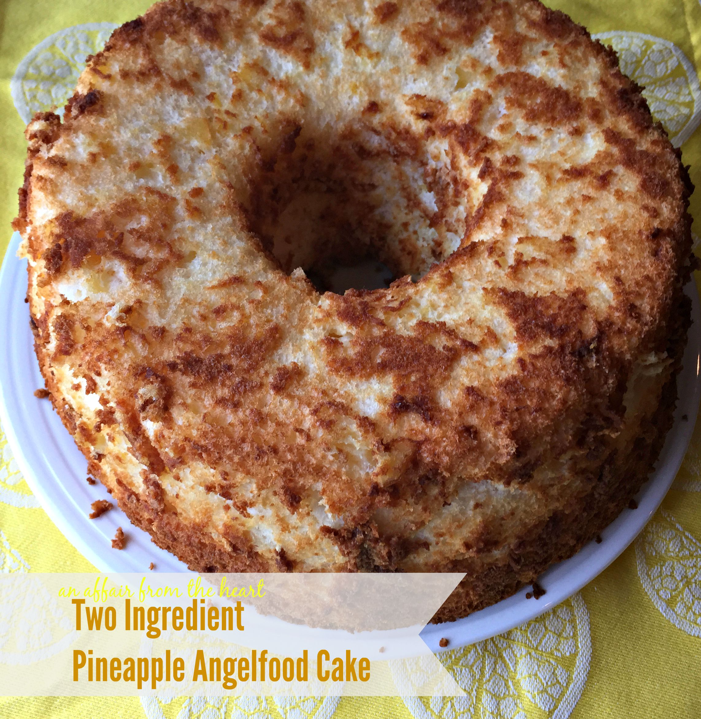 Two Ingredient Pineapple Cake Recipe