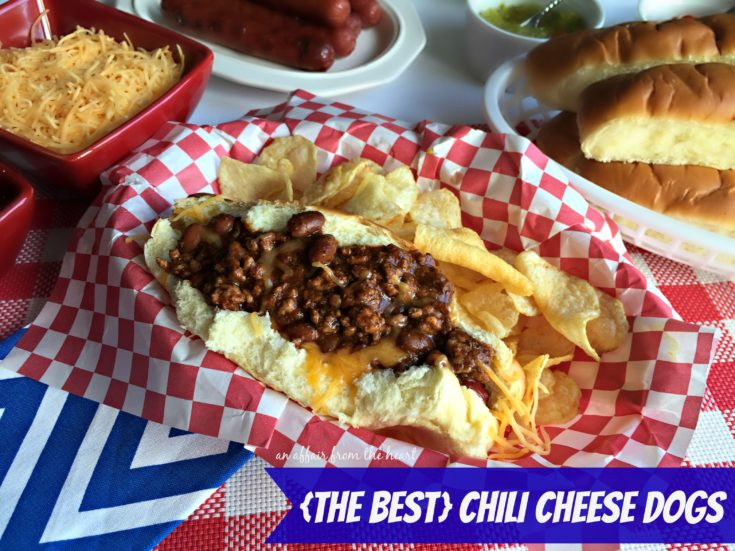 {The Best} Chili Cheese Dogs