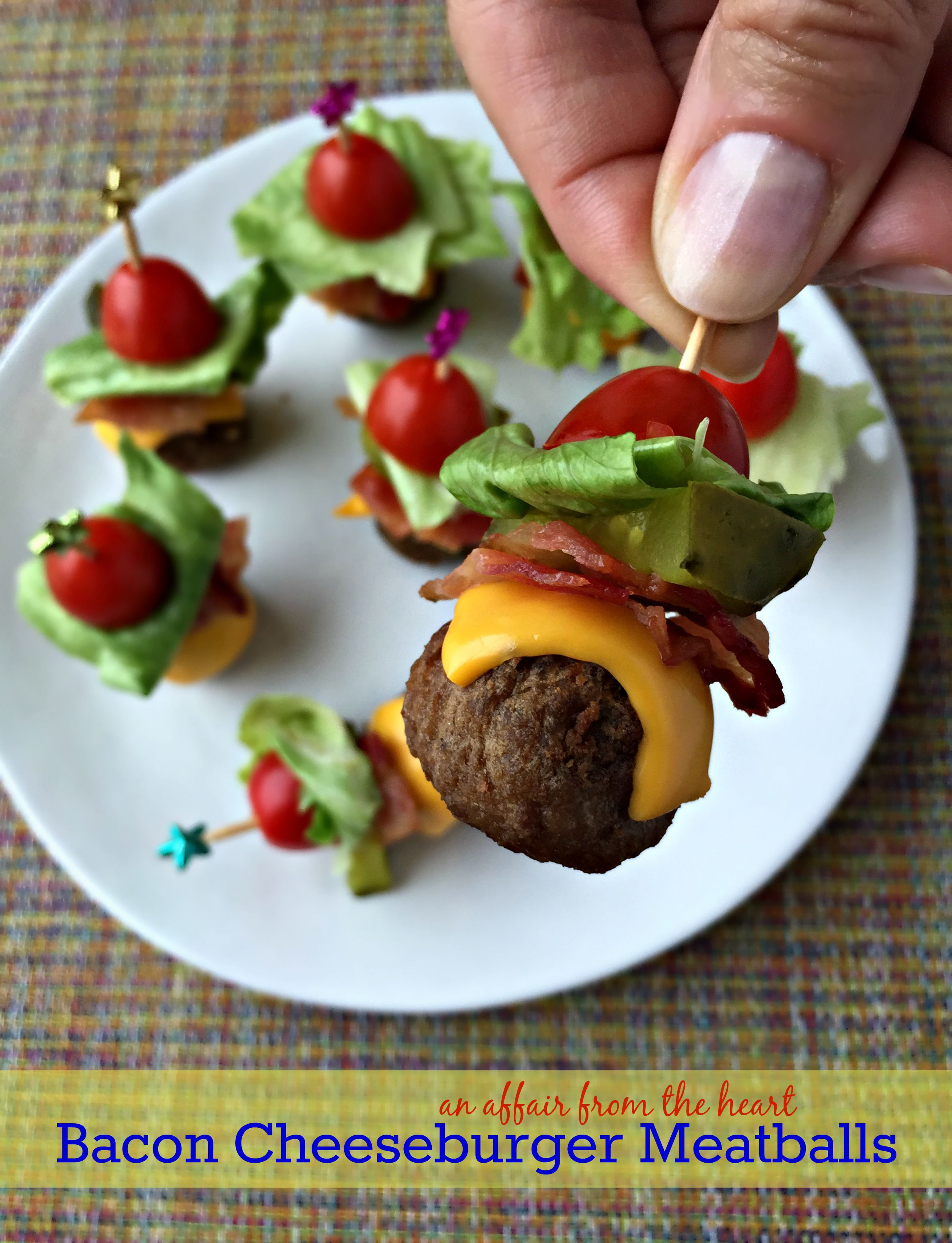 Bacon Cheeseburger Meatballs