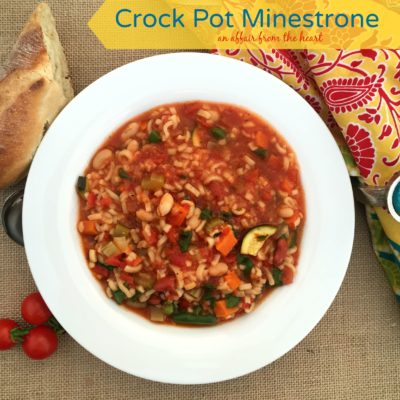 Crock Pot Minestrone #FallForFlavor — Giveaway Included