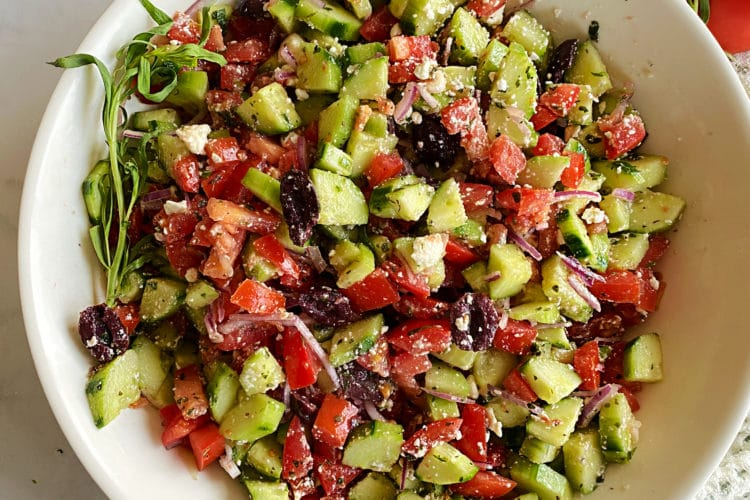 Greek Style Cucumber Salad