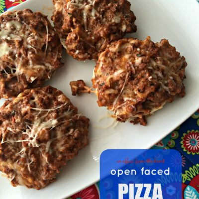 Open Faced Pizza Burgers