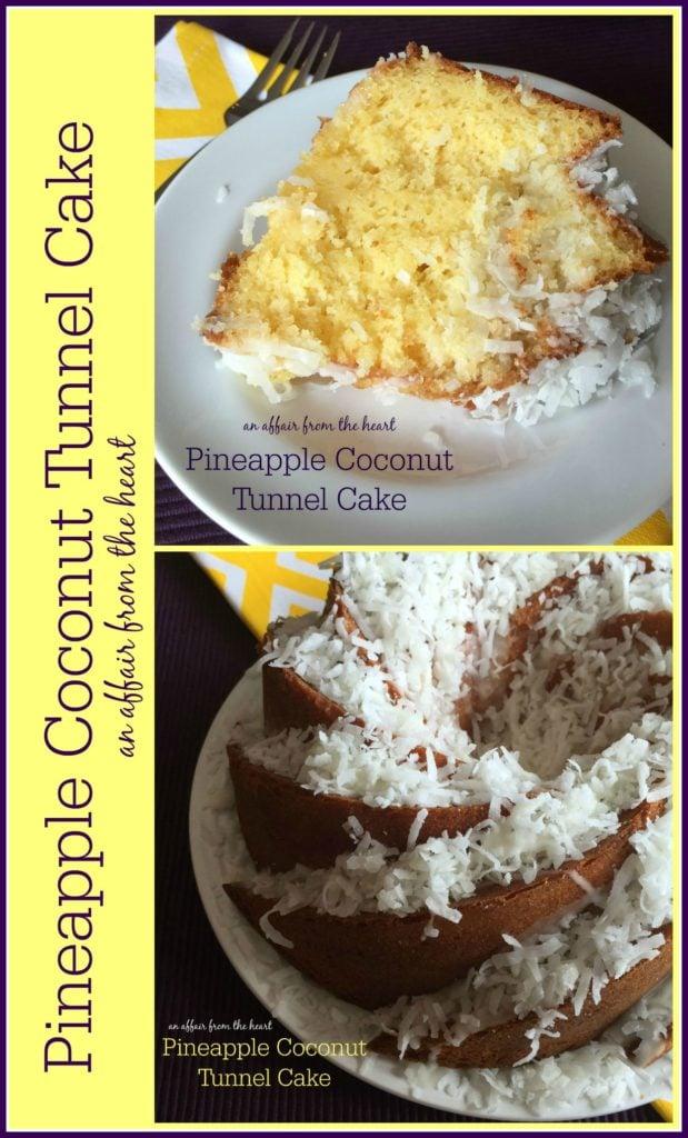 Pineapple Coconut Tunnel Cake