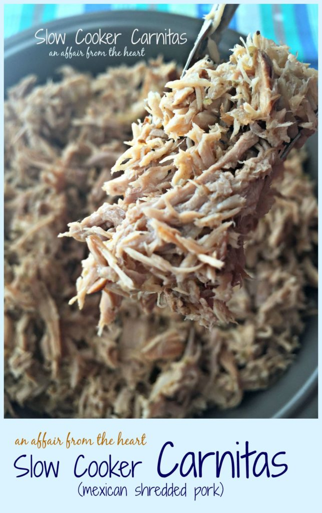 Slow Cooker Carnitas | An Affair from the Heart