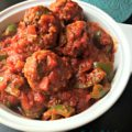 """Stuffed Pepper"" Meatballs"