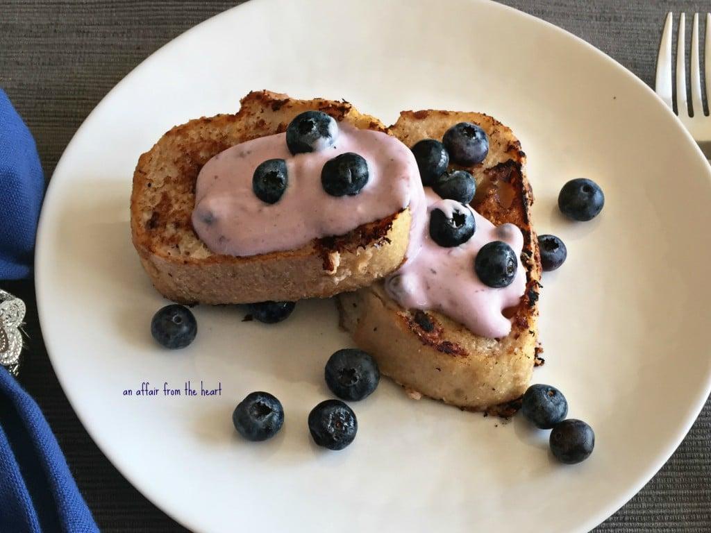 Blueberry Yogurt French Toast