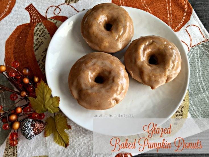 Glazed Baked Pumpkin Donuts