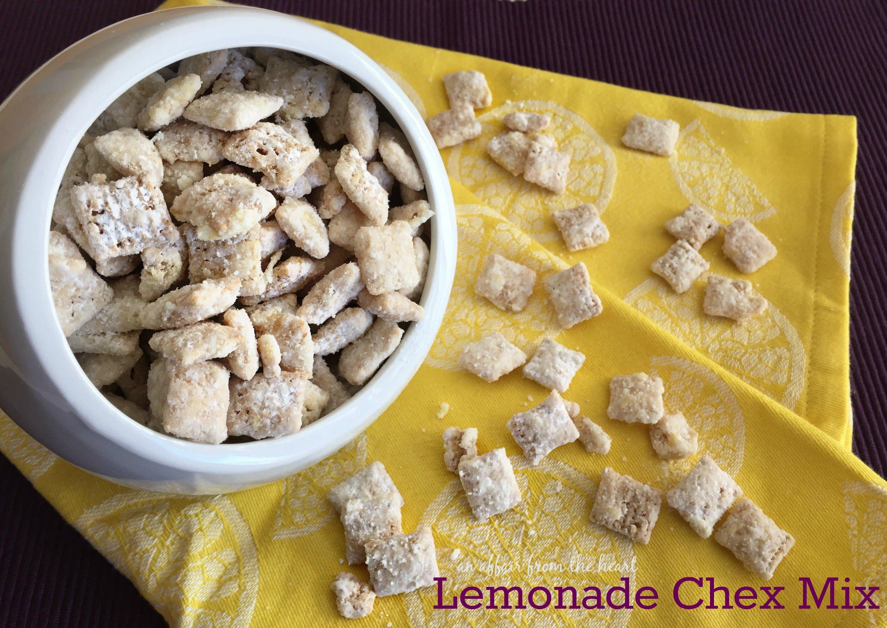 Lemonade Chex Mix White Chocolate Lemonade Puppy Chow