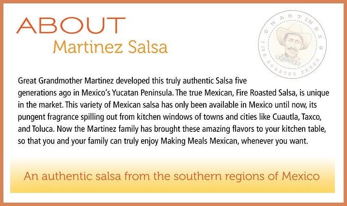 Martinez Salsa About