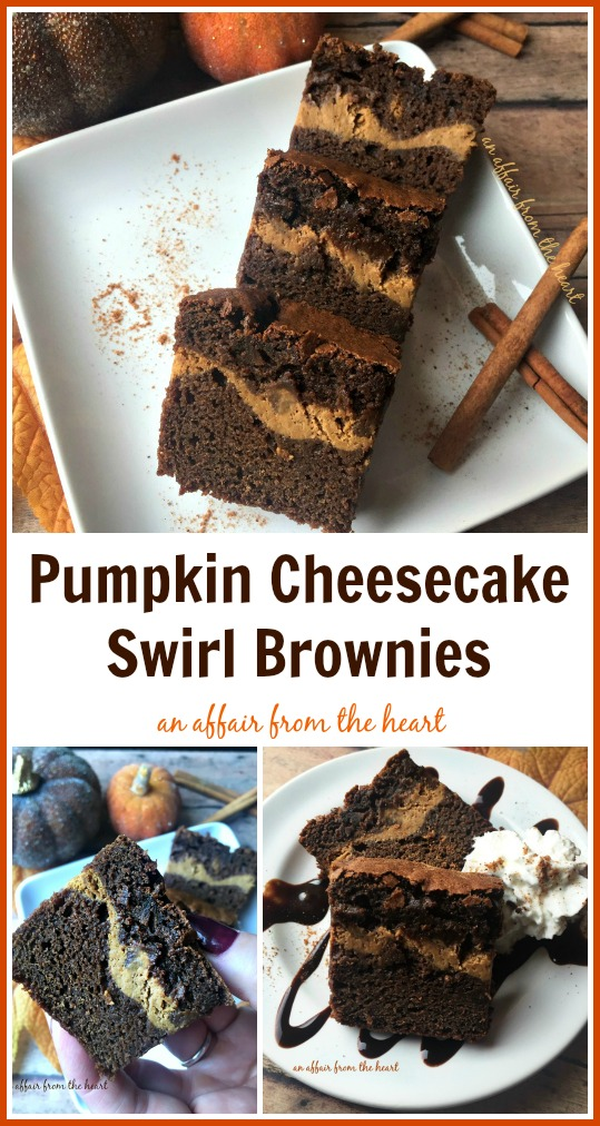 Pumpkin Cheesecake Swirl Brownies | An Affair from the Heart
