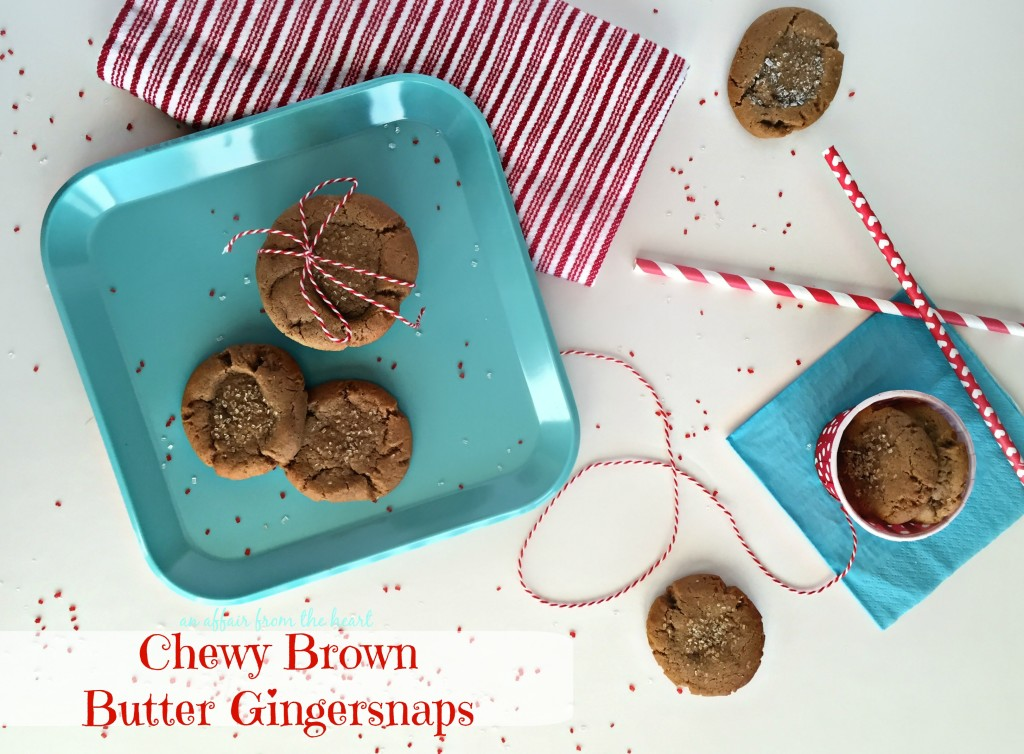 Chewy Brown Butter Gingersnaps
