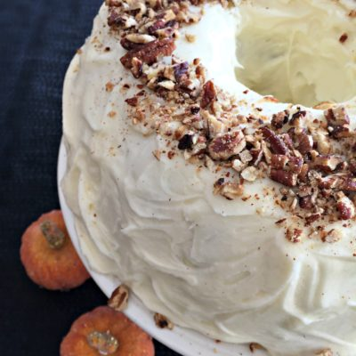 Cinderella Cake {Pumpkin Bundt Cake with Cream Cheese Frosting}