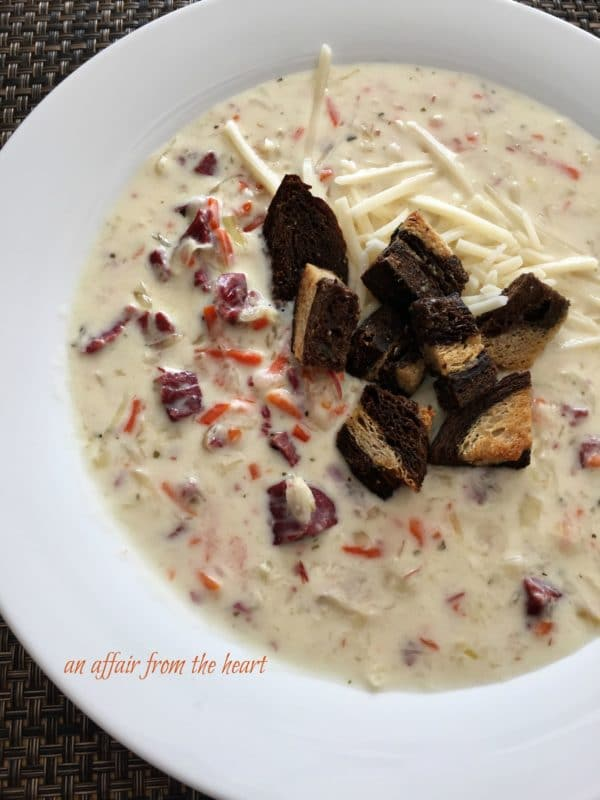 Cream of Reuben Soup