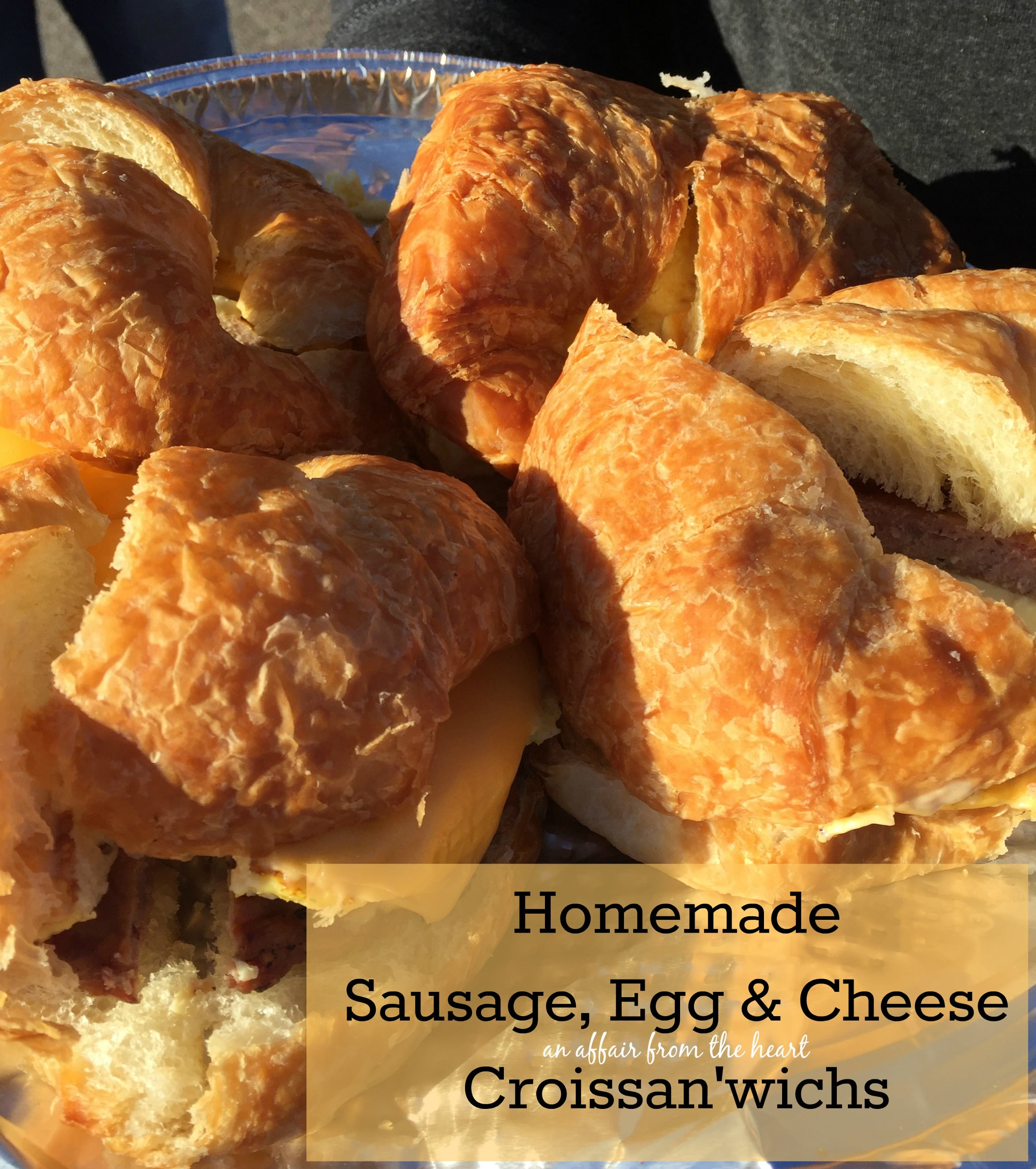 Love the Homemade Sausage, Egg & Cheese Croissan'wichs from Burger ...