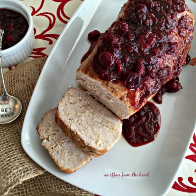 Pork Loin Roast with Balsamic Cranberry Sauce