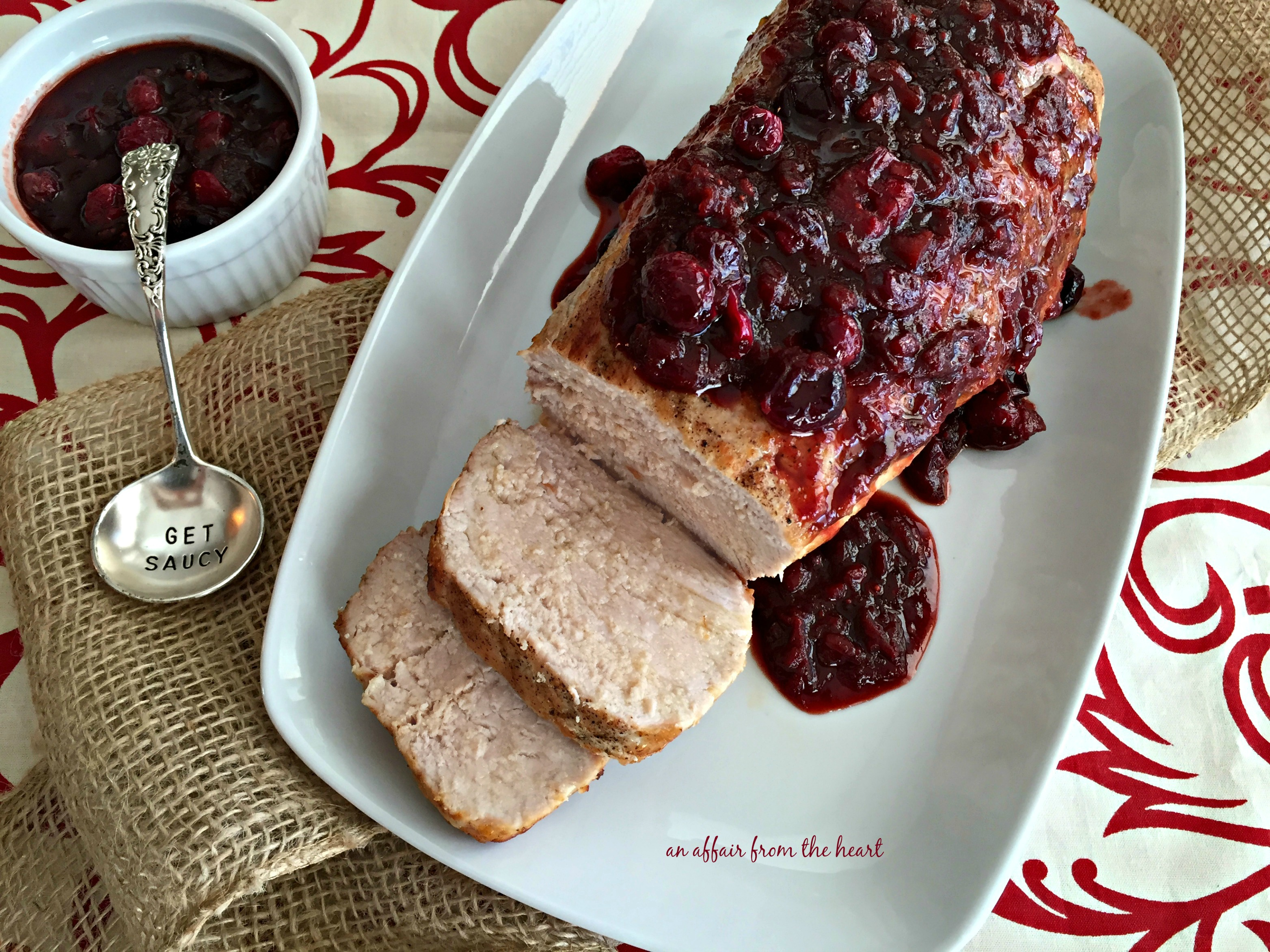 Pork Loin Roast with Balsamic Cranberry Sauce | An Affair ...