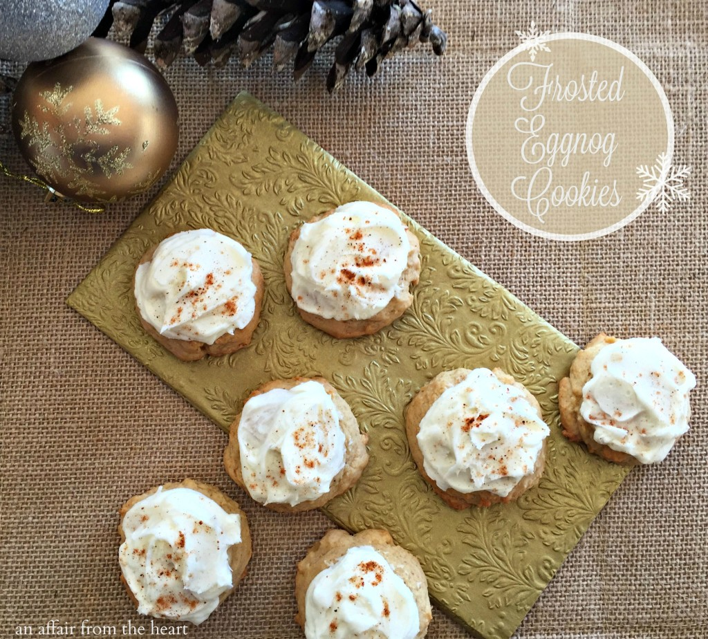 Frosted Eggnog Cookies