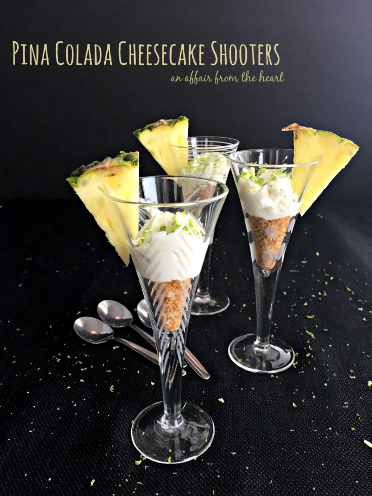 Pina Colada Cheesecake Shooters
