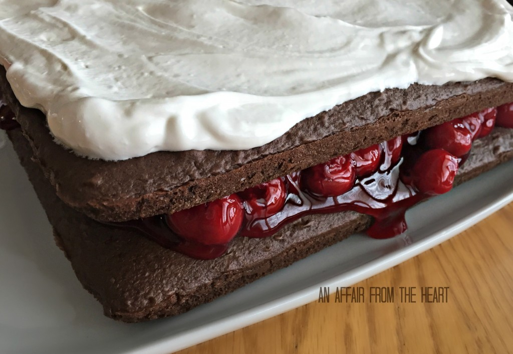 Chocolate Cake Cherries Cool Whip