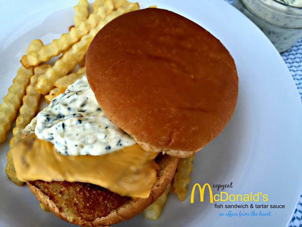 Copy cat mcdonald 39 s tartar sauce fish sandwich an for Fast food fish sandwich