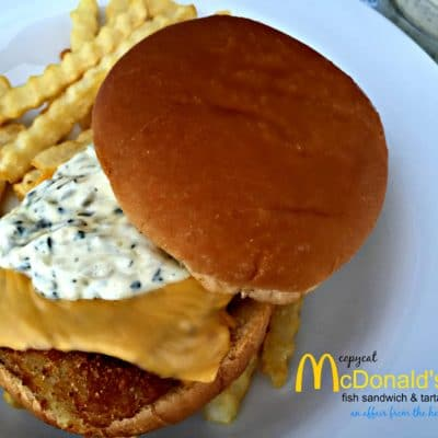 Copy Cat McDonald's Tartar Sauce & Fish Sandwich