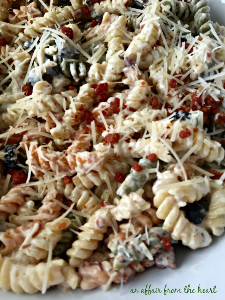 pics for gt creamy pasta salad with bacon