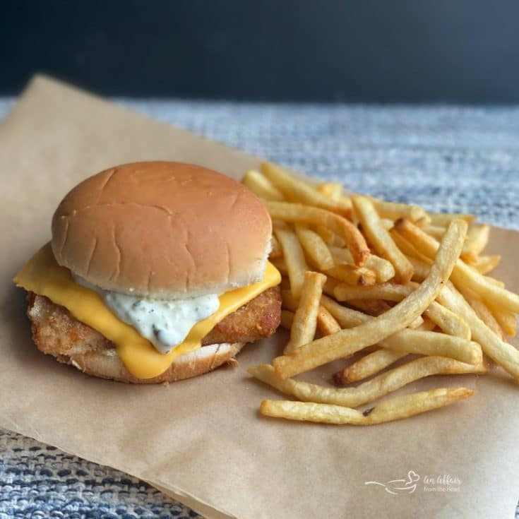 Side view of Copy Cat McDonald's Fish Sandwich and Tartar Sauce recipe