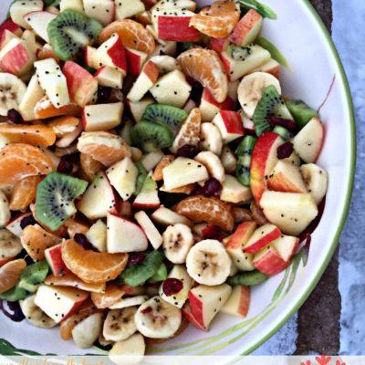 Winter Fruit Salad with Lemon Dressing