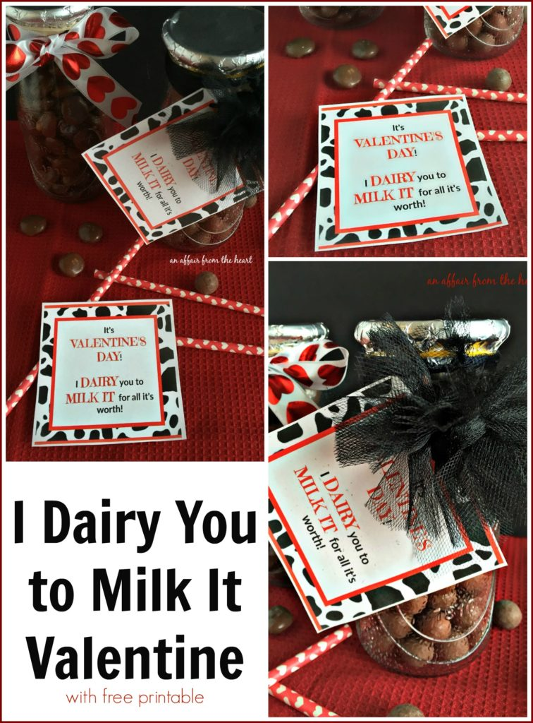 I Dairy You to Milk It Valentine - An Affair from the Heart