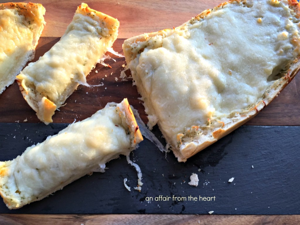 Four Cheese Roasted Garlic Bread
