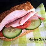 Garden Club Hoagie with Veggie Bacon Sandwich Spread