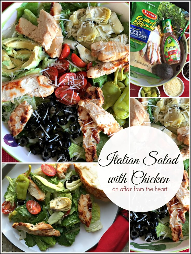 Italian Salad with Chicken - An Affair from the Heart