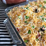 {Not Your Average} Mexican Layered Bean Dip