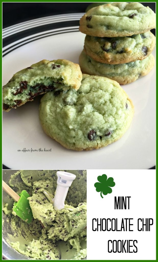 Mint Chocolate Chip Cookies - An Affair from the Heart