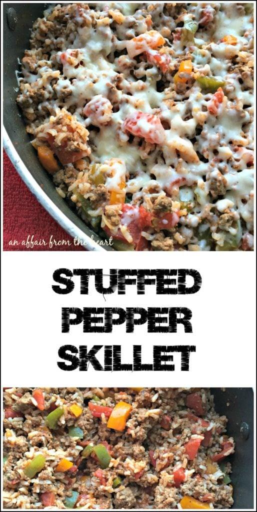 Stuffed Pepper Skillet - An Affair from the Heart