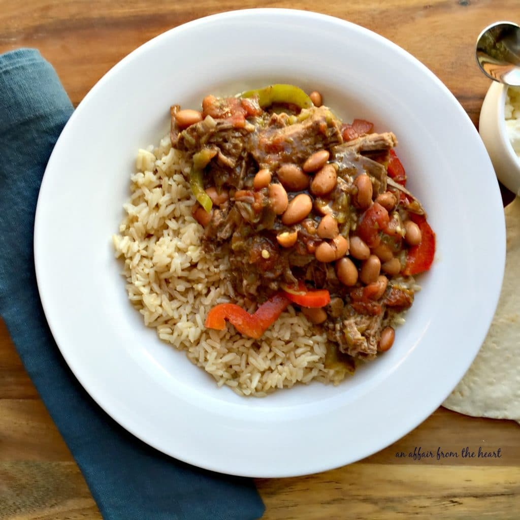Crock Pot Spicy Steak & Beans