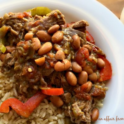 Crock Pot Spicy Steak & Beans
