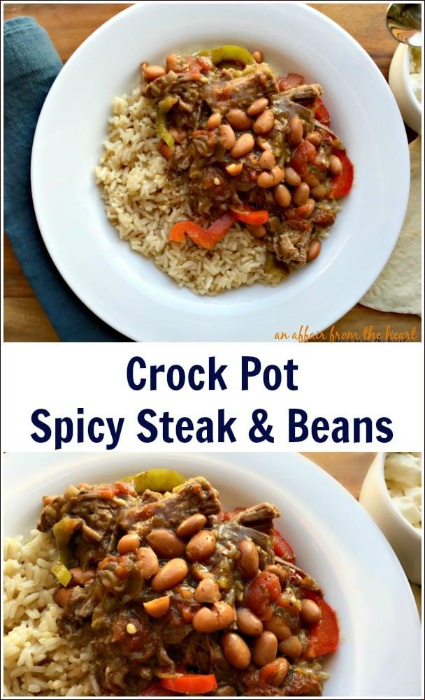 Crock Pot Spicy Steak & Beans - An Affair from the Heart