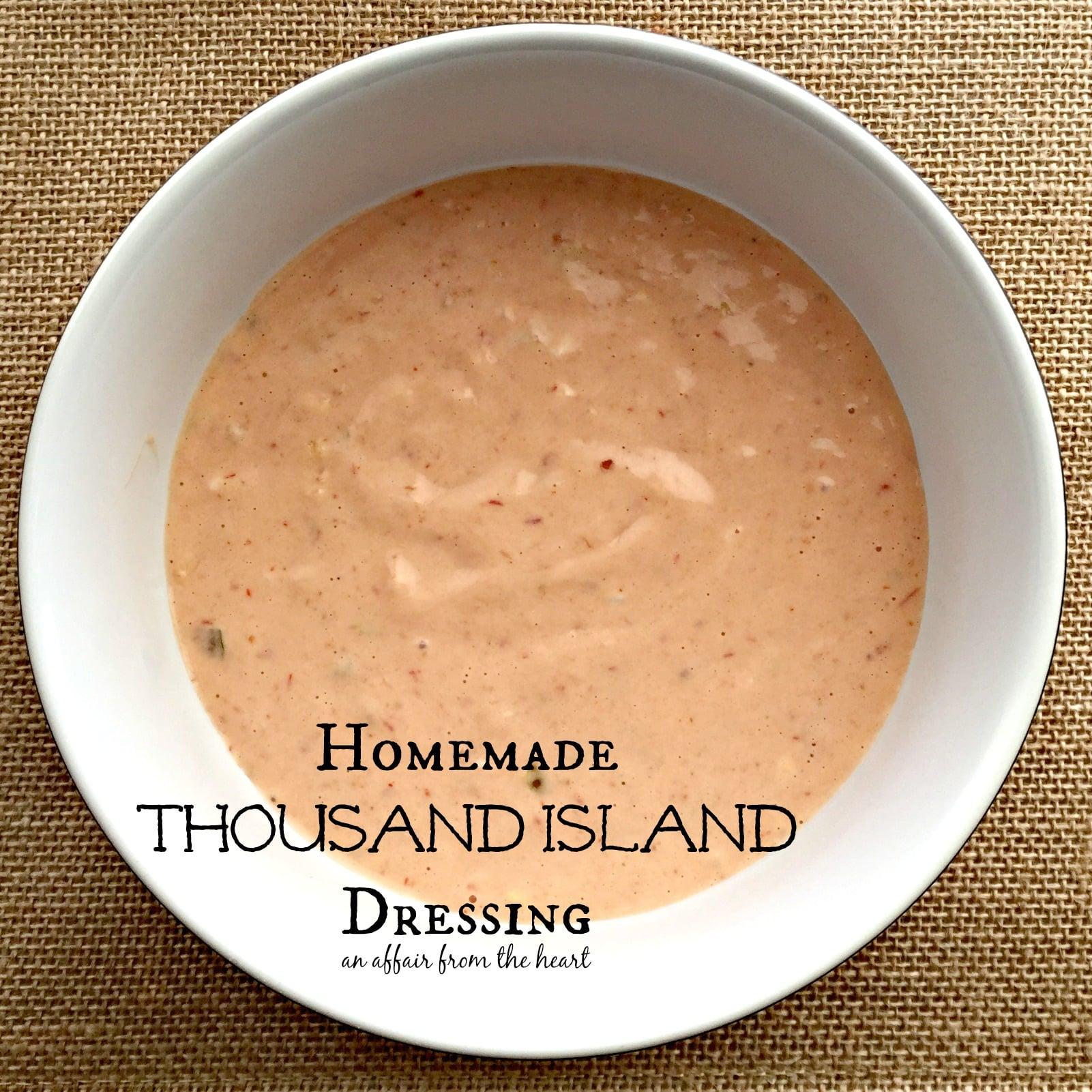 Homemade Thousand Island Dressing