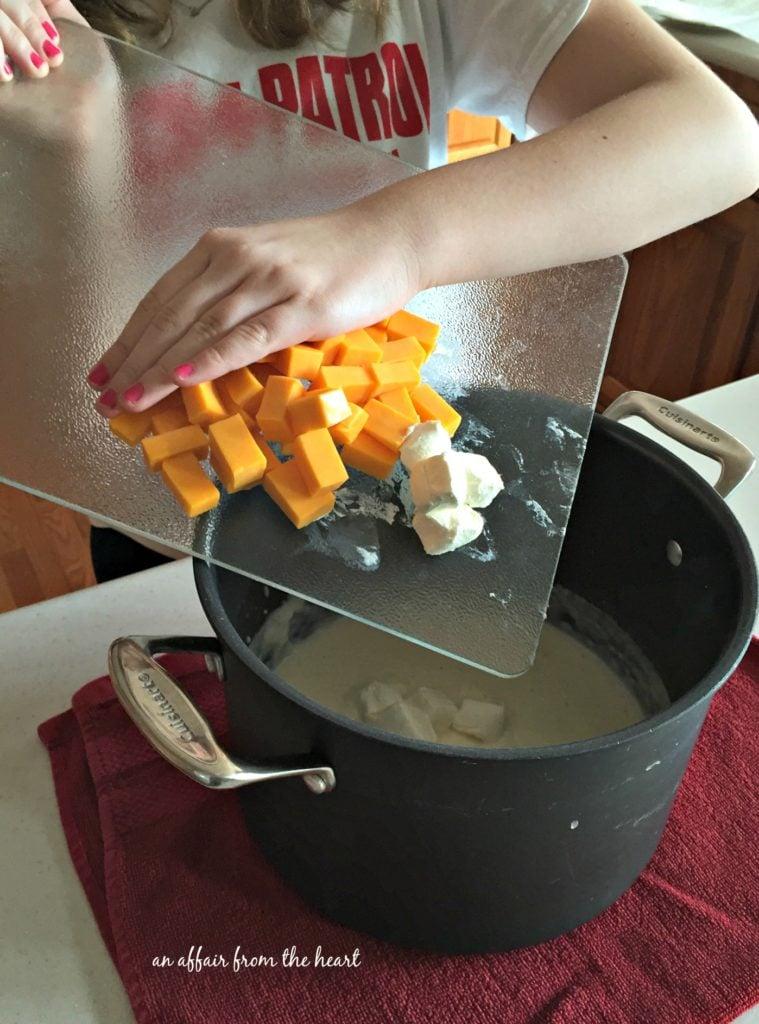Loaded Mac 'n Cheese Prep