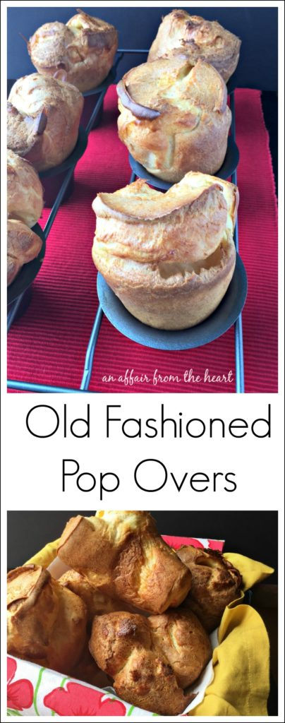 Old Fashioned Pop Overs - An Affair from the Heart