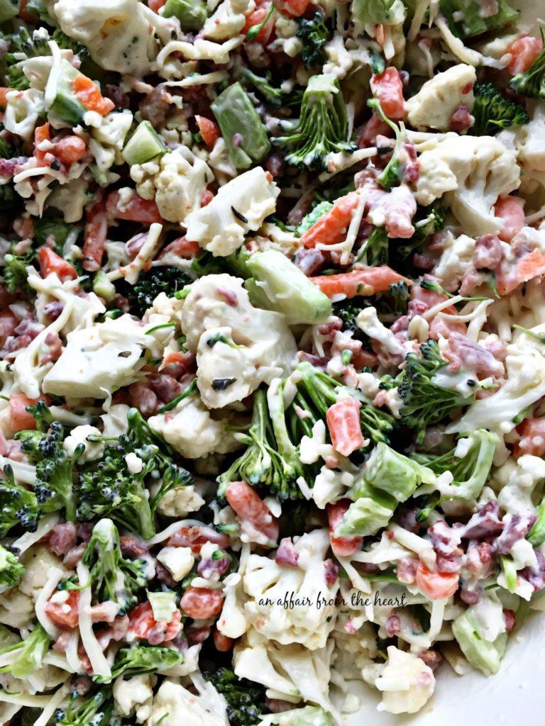 Peg's Salad - Italian Raw Veggie Salad